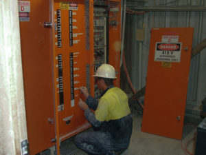 Electrician making Switchboard Alterations - Lime Plant Warwick